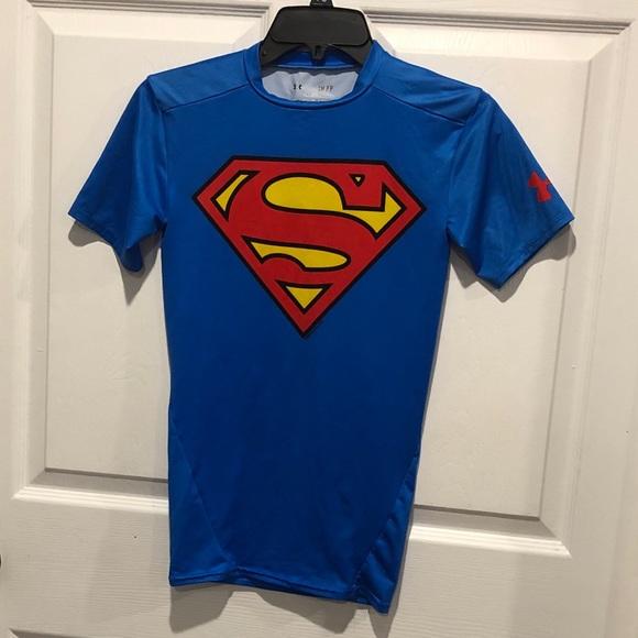 dos semanas boleto Satisfacer  Under Armour Shirts | Superman Compression Shirt Sz Sm | Poshmark